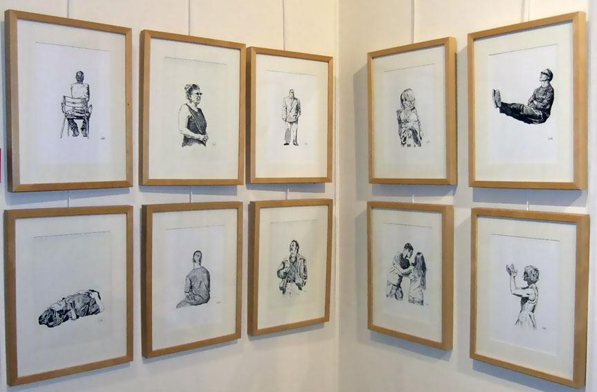 Villa Perrotte Soluto croquis dessins encre chine exposition vente