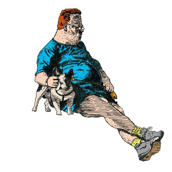 Soluto croquis bouledogue Jacky Calice chien gros bonhomme dessin