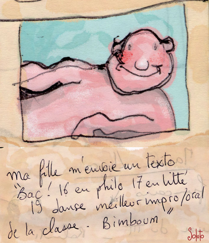 Soluto Miles Davis jazz encre de chine peinture dessin