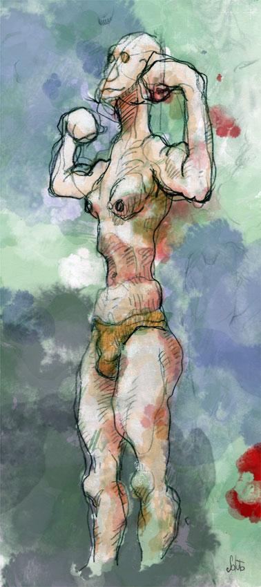 Soluto portrait ecriture aquarelle Tarzan peinture dessin