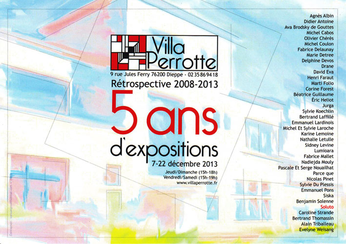 Soluto peinture pochoir villa perrotte ecriture exposition dessin