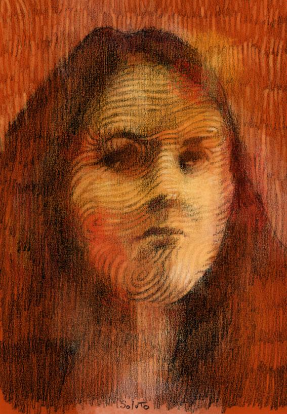 Soluto croquis portrait ecriture peinture dessin