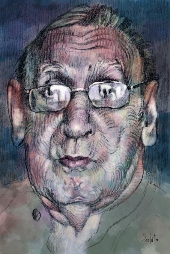 Soluto Rustin est mort croquis portrait ecriture peinture dessin