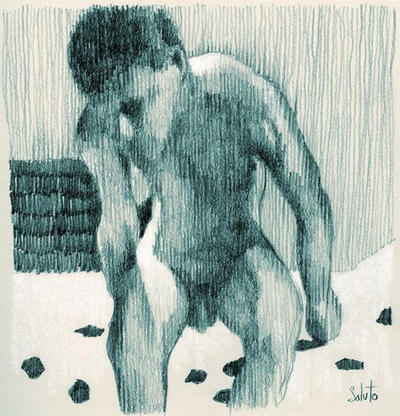 dessin soluto portrait reveil crayon achille peinture