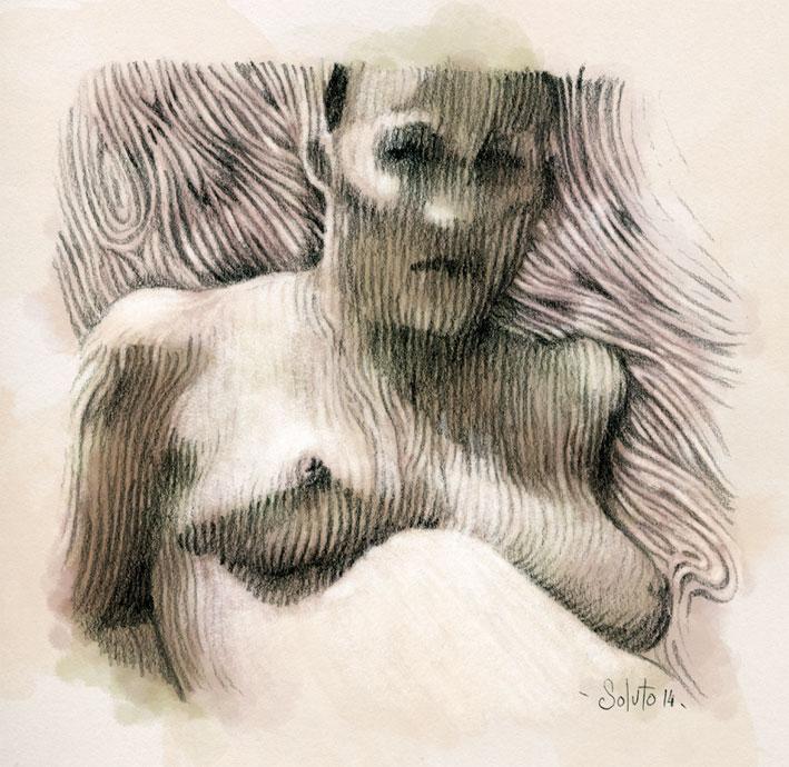 dessin soluto portrait cavatines rimbaud crayon 17 ecriture peinture