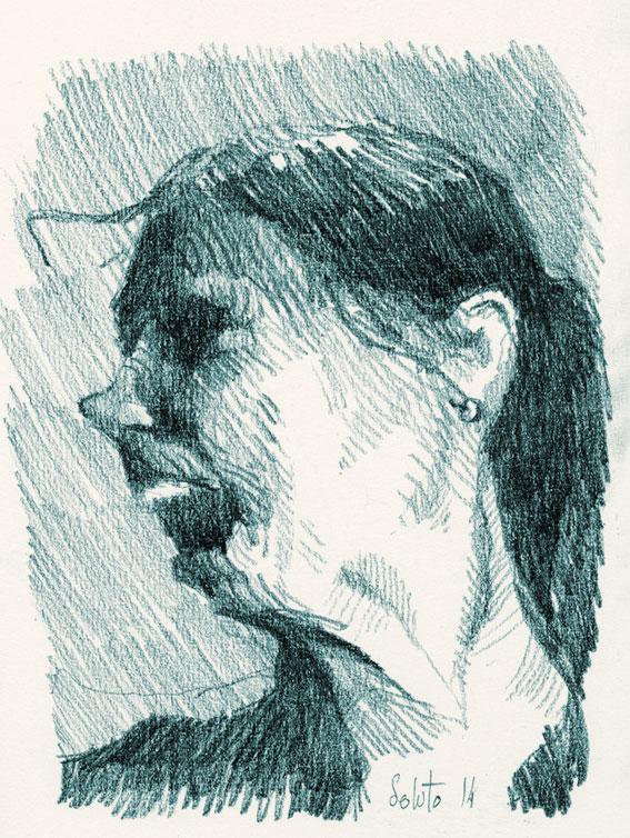 dessin soluto bloc croquis nu fille crayon ecriture peinture