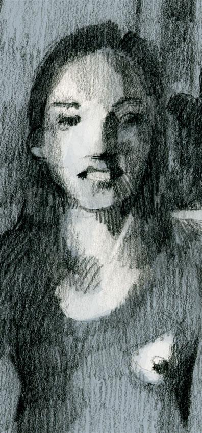 dessin soluto Flaubert portrait fille crayon ecriture peinture