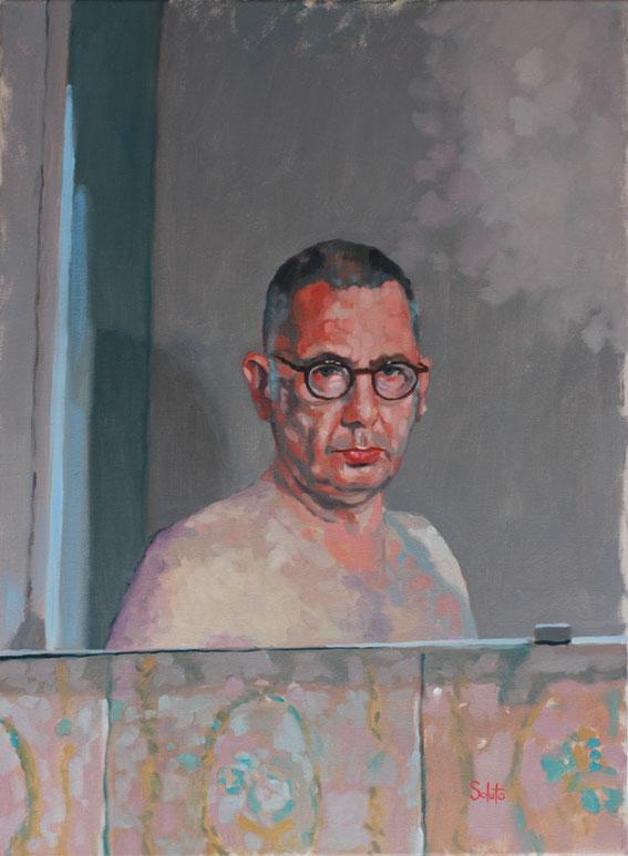 autoportrait soluto huile peinture