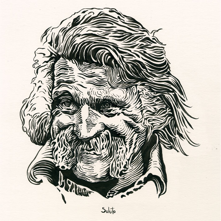 Jackie Berroyer, graphite, dessin, fusain, board, grey, body, soluto peinture