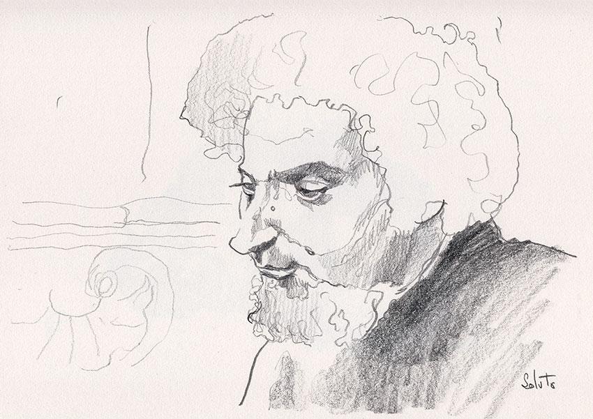 Georges Perec, Perec, graphite, dessin, fusain, board, grey, body, soluto peinture, digital, numerique, toi, moi, le chat, bipolaire