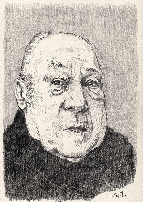 Magali Cazo, graphite, dessin, fusain, board, grey, body, soluto peinture