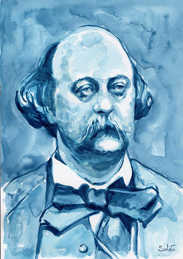 Madame Bovary, Gustave, Flaubert, Idées reçues, Gustave Flaubert, encre de chine, dessin, soluto, lavis, roman noir