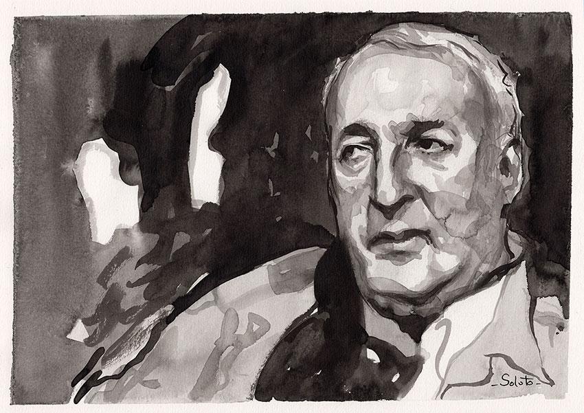 Alphonse Boudard, encre de chine, dessin, soluto, lavis, auteur, roman