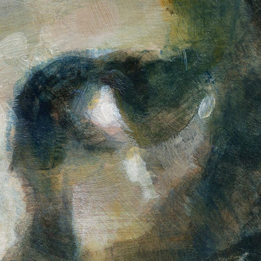 gouache, portrait de femme, lunettes, dessin, soluto, lavis, auteur, roman