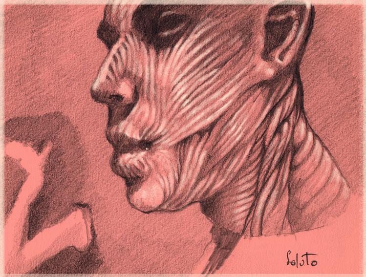 portrait soluto croquis crayon