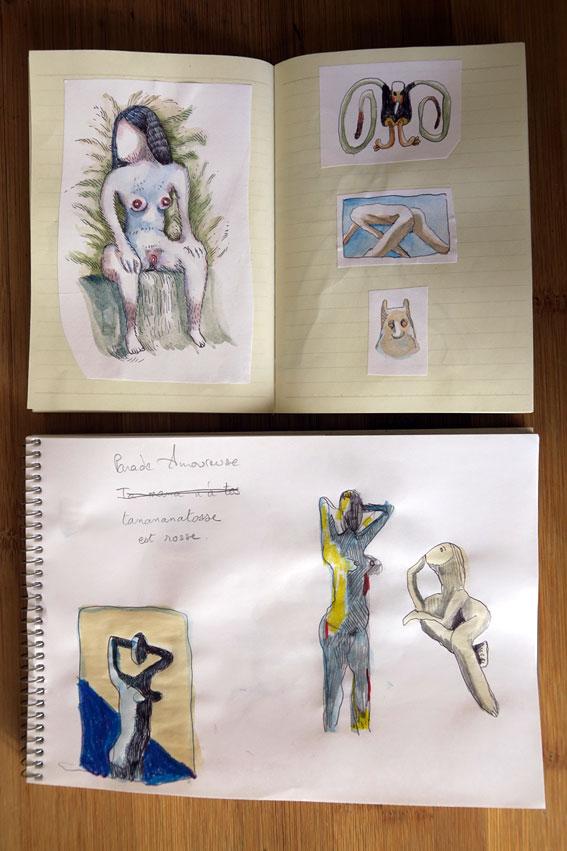 aquarelle portraits carnet de transe soluto