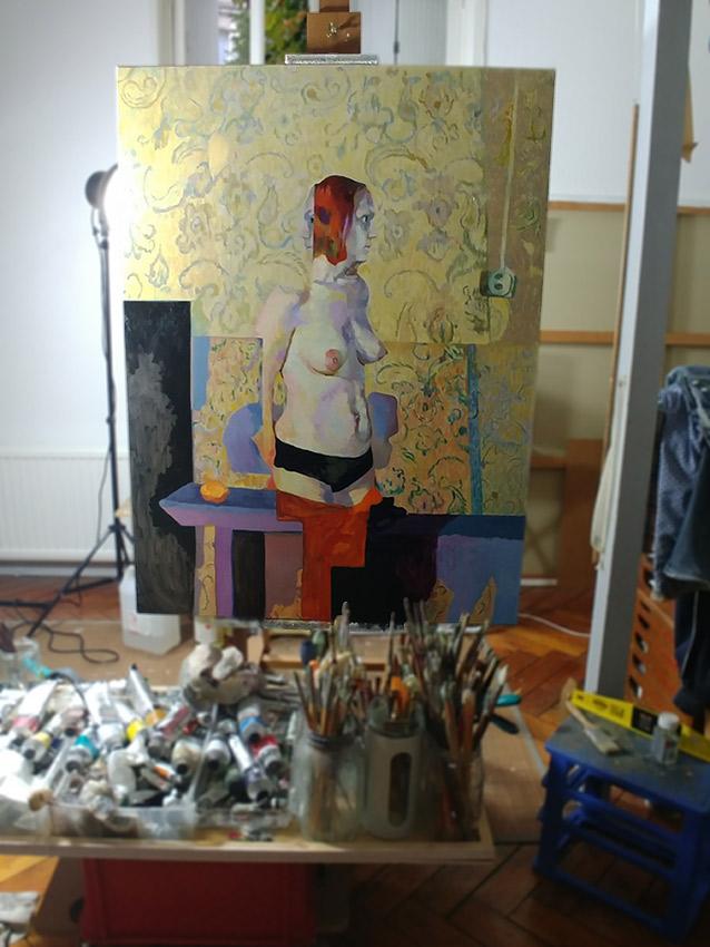 confinement, dessin, fusain, board, grey, painting, body, soluto dessin, oil on canvas, huile sur toile